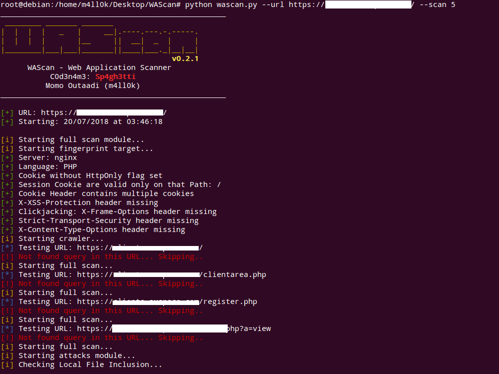 WAScan:一款功能强大的Web应用程序扫描工具