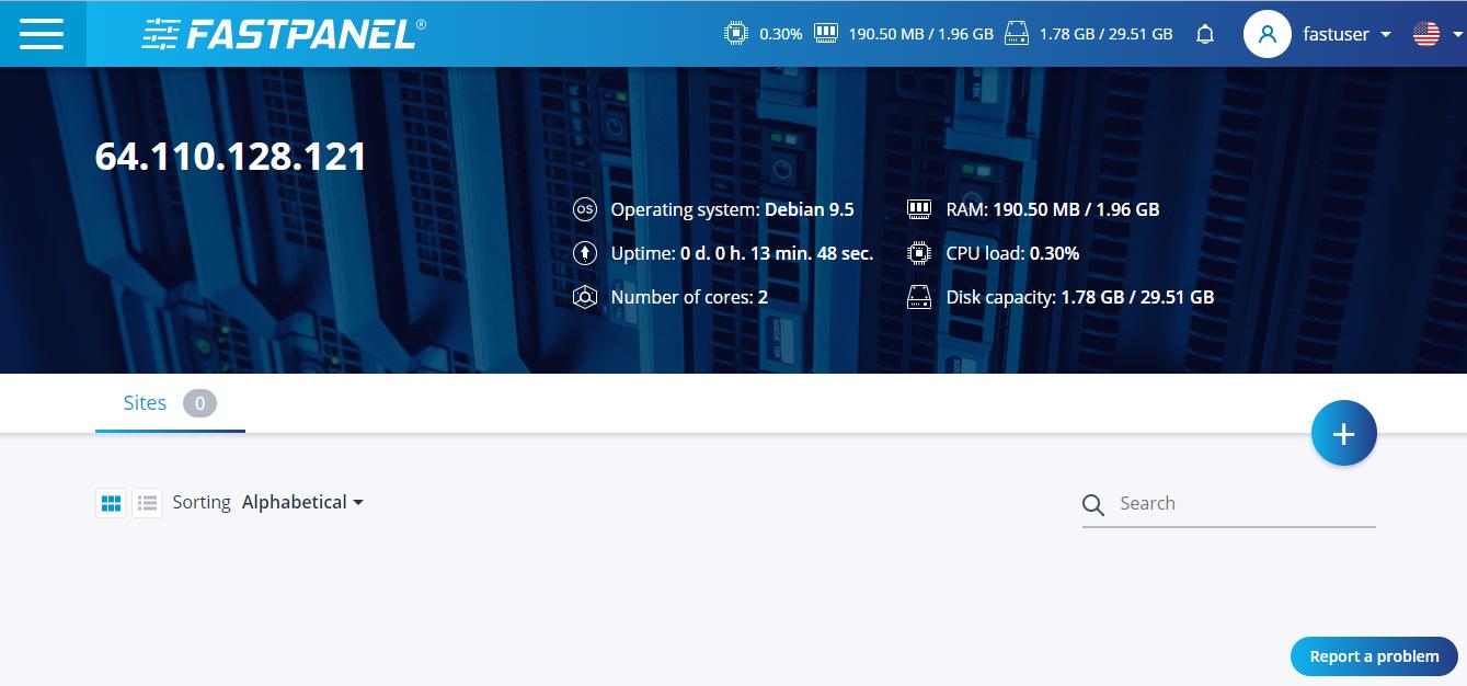 FastPanel—俄罗斯主机商开发的强大主机面板测评-夜河资源网