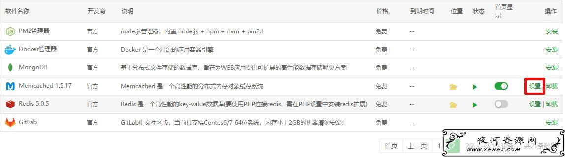 宝塔面板启memcached加速wordpress网站访问速度
