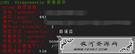 V2Ray+WebSocket+TLS+Nginx一键安装脚本