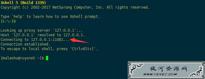 XShell中转代理隧道设置,提高操作流畅速度!