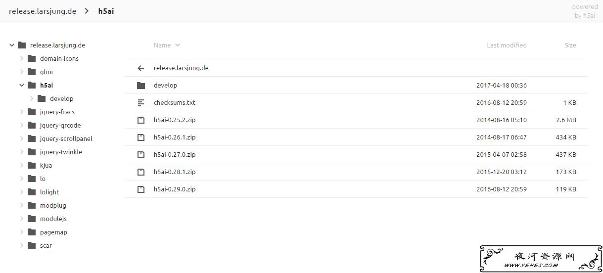 一款不错的PHP目录列表程序:h5ai安装教程