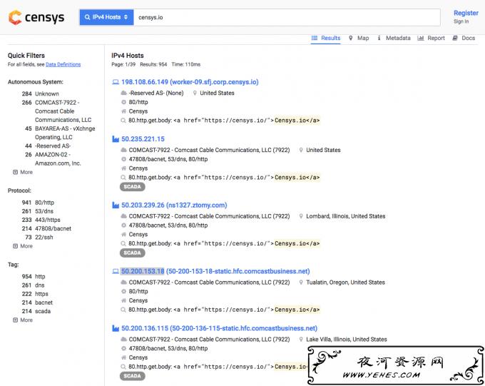 使用Censys 查询CDN/如Cloudflare网站后面的真实服务器IP地址与对应防范