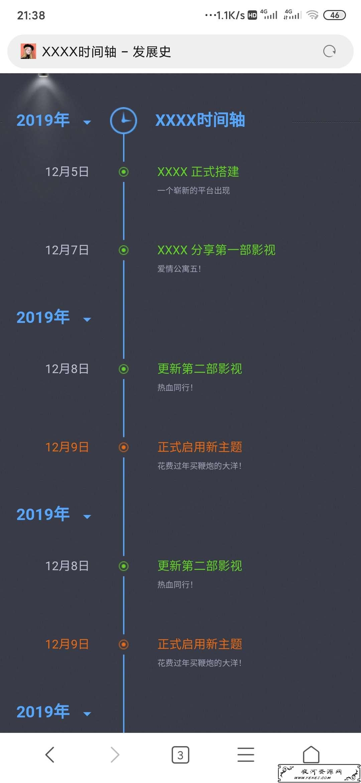 时光轴网站发展史源码
