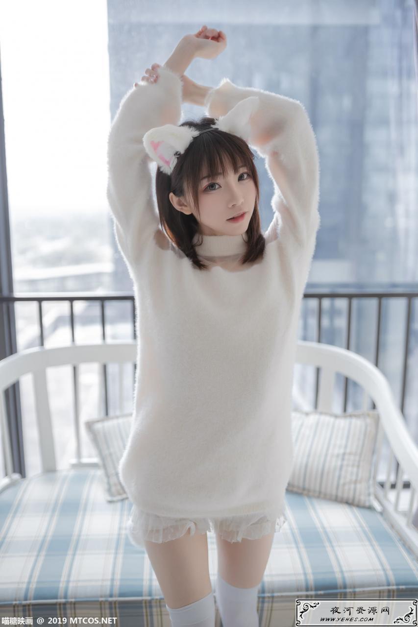 每日写真-喵糖映画白丝猫耳可爱萝莉幼女美少女写真