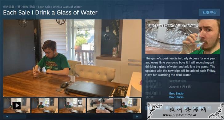 Steam奇葩游戏每卖出1份开发者就喝杯水