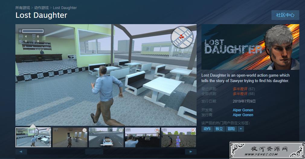 Steam限时喜加一免费领Lost Daughter游戏