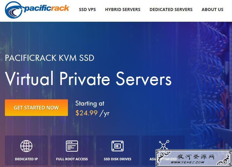 PacificRack送上三款月均10元美国VPS,1核512M/2核1.5G/2核3G折后3.8元/月起,洛杉矶QN机房