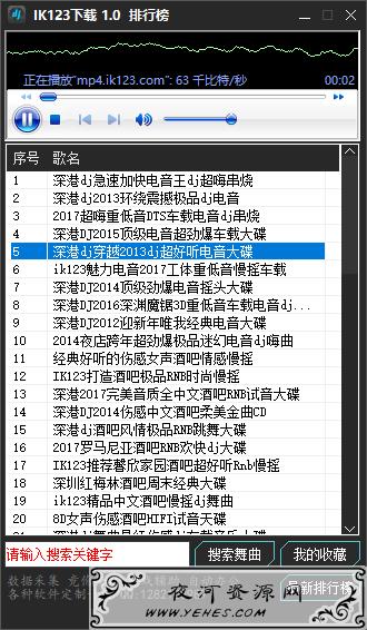 DJ舞曲播放下载工具 IK123下载工具V1.0版本